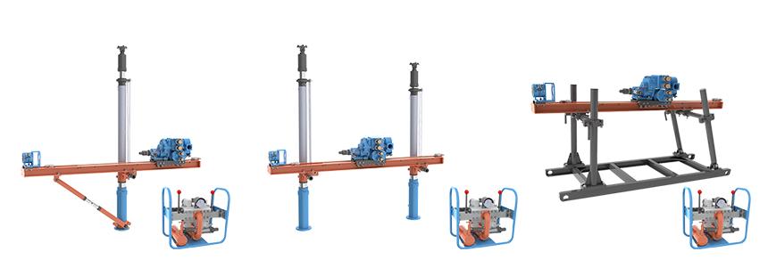 气动式架柱钻机