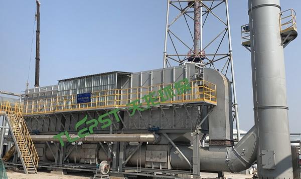 丁基橡膠業10萬風量蓄熱氧化裝置RTO