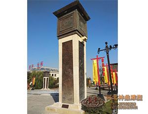 铸铜浮雕柱子