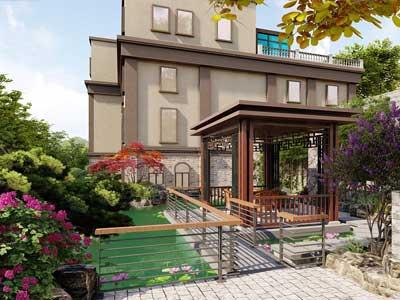 獨棟別墅花圃設計