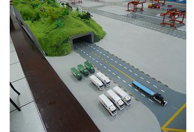 物流沙盤模型