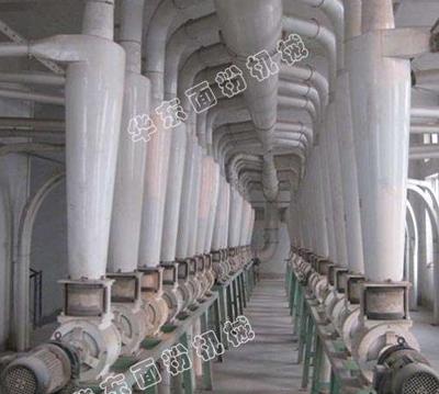 250吨大型面粉机械 管路层