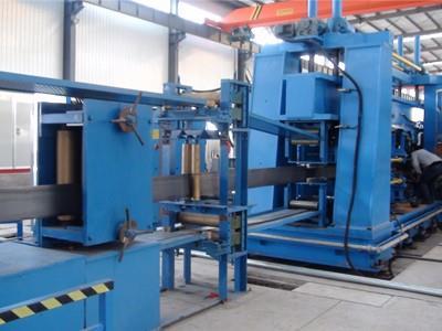 H型钢生产线配套使用河北抖咪直播丝杆升降机齿轮减速机