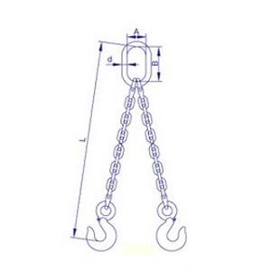双腿链条索具
