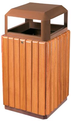 异形钢木垃圾桶