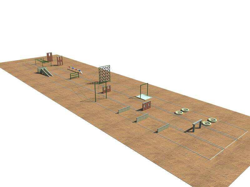 部队训练300米障碍器材低桩网,警犬训练器材,500米障碍,警犬训练器材,500米障碍